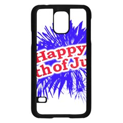 Happy 4th Of July Graphic Logo Samsung Galaxy S5 Case (Black)