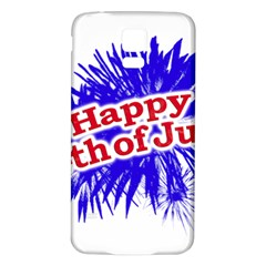 Happy 4th Of July Graphic Logo Samsung Galaxy S5 Back Case (White)