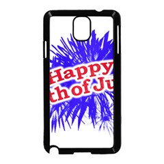 Happy 4th Of July Graphic Logo Samsung Galaxy Note 3 Neo Hardshell Case (Black)