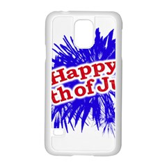 Happy 4th Of July Graphic Logo Samsung Galaxy S5 Case (White)