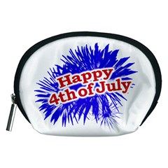 Happy 4th Of July Graphic Logo Accessory Pouches (Medium)