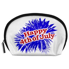 Happy 4th Of July Graphic Logo Accessory Pouches (Large)