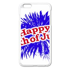 Happy 4th Of July Graphic Logo Apple iPhone 6 Plus/6S Plus Enamel White Case
