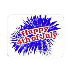 Happy 4th Of July Graphic Logo Double Sided Flano Blanket (Mini)