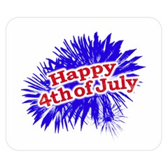 Happy 4th Of July Graphic Logo Double Sided Flano Blanket (Small)