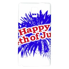 Happy 4th Of July Graphic Logo Galaxy Note 4 Back Case