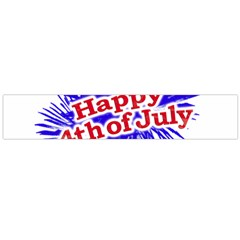 Happy 4th Of July Graphic Logo Flano Scarf (Large)