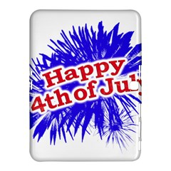 Happy 4th Of July Graphic Logo Samsung Galaxy Tab 4 (10.1 ) Hardshell Case