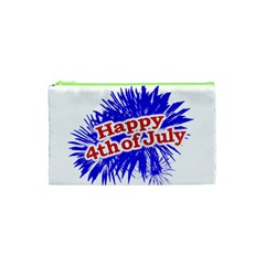 Happy 4th Of July Graphic Logo Cosmetic Bag (XS)