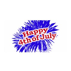 Happy 4th Of July Graphic Logo Satin Wrap