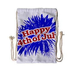 Happy 4th Of July Graphic Logo Drawstring Bag (Small)