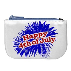 Happy 4th Of July Graphic Logo Large Coin Purse