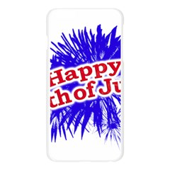 Happy 4th Of July Graphic Logo Apple Seamless iPhone 6 Plus/6S Plus Case (Transparent)