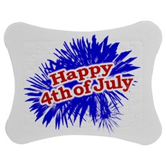 Happy 4th Of July Graphic Logo Jigsaw Puzzle Photo Stand (Bow)