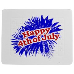 Happy 4th Of July Graphic Logo Jigsaw Puzzle Photo Stand (Rectangular)
