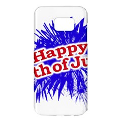 Happy 4th Of July Graphic Logo Samsung Galaxy S7 Edge Hardshell Case