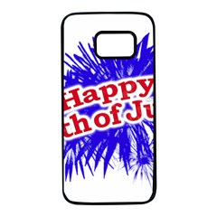 Happy 4th Of July Graphic Logo Samsung Galaxy S7 Black Seamless Case