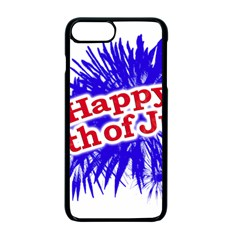 Happy 4th Of July Graphic Logo Apple iPhone 7 Plus Seamless Case (Black)