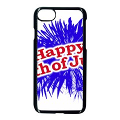 Happy 4th Of July Graphic Logo Apple iPhone 7 Seamless Case (Black)