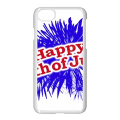 Happy 4th Of July Graphic Logo Apple iPhone 7 Seamless Case (White)