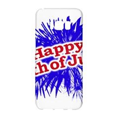 Happy 4th Of July Graphic Logo Samsung Galaxy S8 Hardshell Case