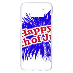 Happy 4th Of July Graphic Logo Samsung Galaxy S8 Plus White Seamless Case