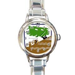 Coat of Arms of Holon  Round Italian Charm Watch