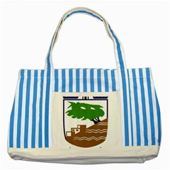 Coat of Arms of Holon  Striped Blue Tote Bag