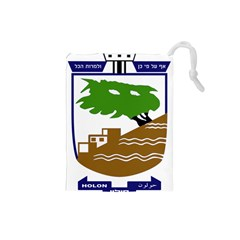 Coat of Arms of Holon  Drawstring Pouches (Small)