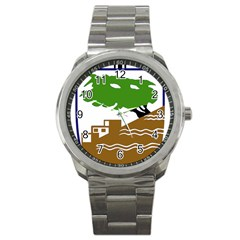 Coat of Arms of Holon  Sport Metal Watch