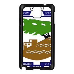 Coat of Arms of Holon  Samsung Galaxy Note 3 N9005 Case (Black)
