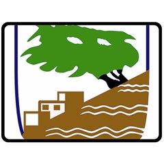 Coat of Arms of Holon  Double Sided Fleece Blanket (Large)