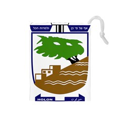 Coat of Arms of Holon  Drawstring Pouches (Medium)