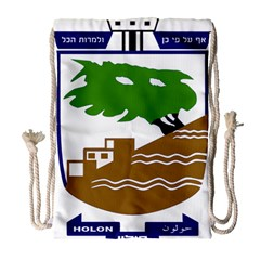 Coat of Arms of Holon  Drawstring Bag (Large)