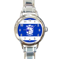 Flag of Holon  Round Italian Charm Watch