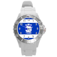 Flag of Holon  Round Plastic Sport Watch (L)