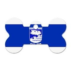Flag of Holon  Dog Tag Bone (One Side)