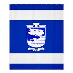 Flag of Holon  Shower Curtain 60  x 72  (Medium)