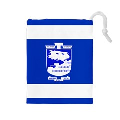 Flag of Holon  Drawstring Pouches (Large)