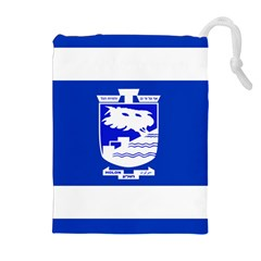 Flag of Holon  Drawstring Pouches (Extra Large)