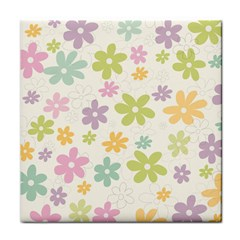Beautiful spring flowers background Tile Coasters
