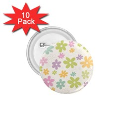 Beautiful spring flowers background 1.75  Buttons (10 pack)
