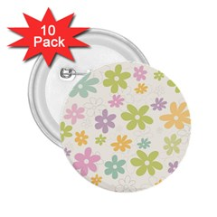 Beautiful spring flowers background 2.25  Buttons (10 pack)
