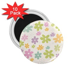 Beautiful spring flowers background 2.25  Magnets (10 pack)