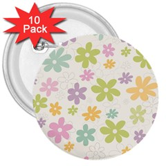Beautiful spring flowers background 3  Buttons (10 pack)