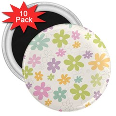 Beautiful spring flowers background 3  Magnets (10 pack)