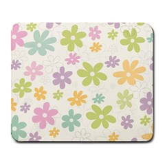 Beautiful spring flowers background Large Mousepads