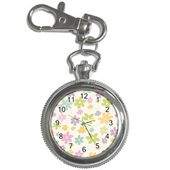 Beautiful spring flowers background Key Chain Watches