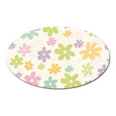 Beautiful spring flowers background Oval Magnet