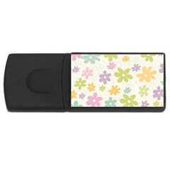 Beautiful spring flowers background USB Flash Drive Rectangular (1 GB)